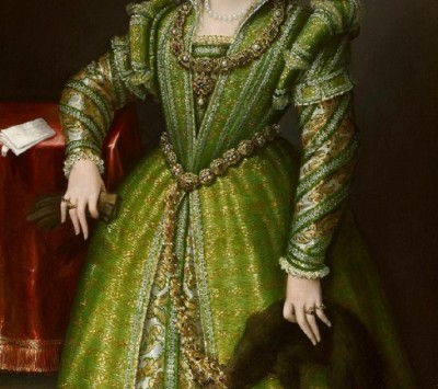 Lavinia Fontana (1552-1614) Portrait of Laura Gonzaga in Green