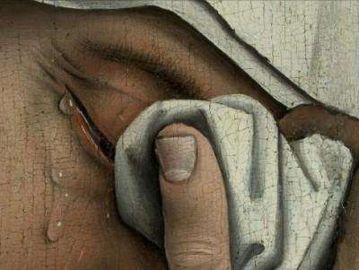 Weyden,_Rogier_van_der_-_Descent_from_the_Cross_-_Detail_women_(left)