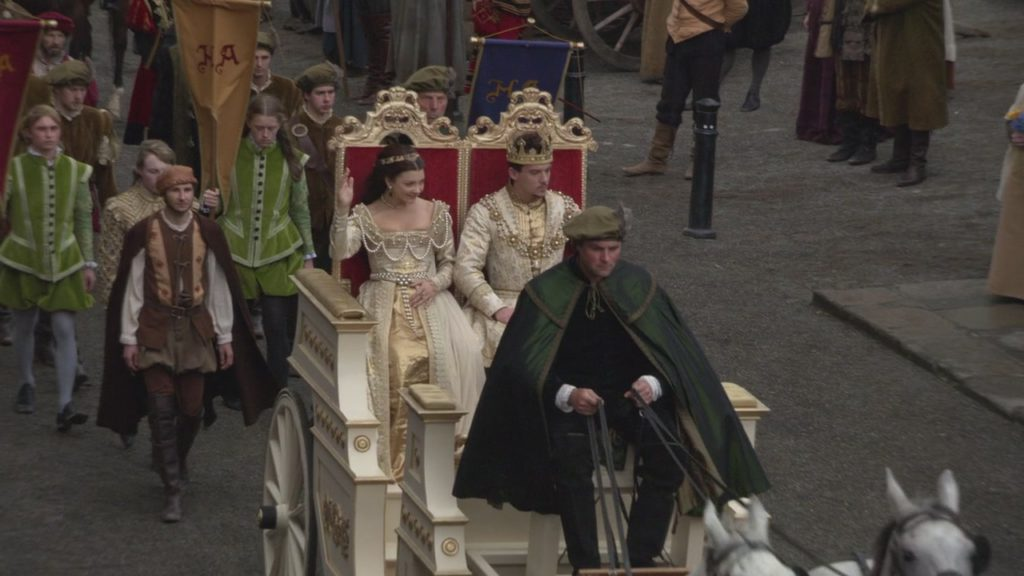 Anne's coronation procession the Tudors