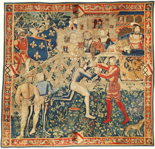 A rare and important French Renaissance tapestry of Le Camp du Drap d'Or, the meeting of Kings Henry VIII and François Ier circa 1520, probably Tournai