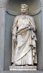 Boccaccio's statue in Uffizi