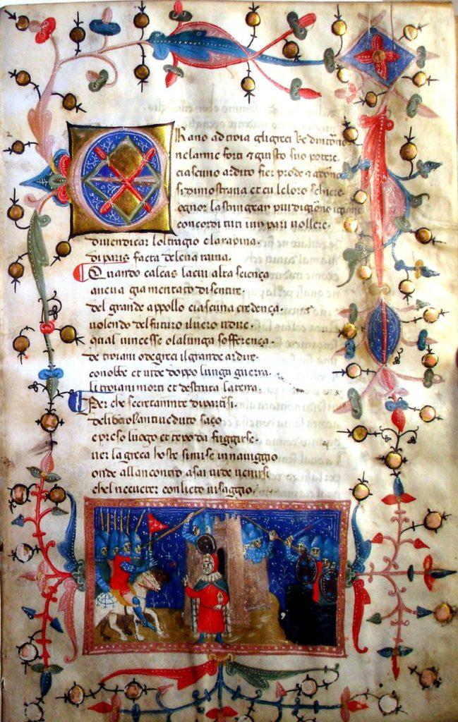 Codice riportante un passo del Filocolo. Codex Christianei, conservato nella Bibliotheca Gymnasii Altonani