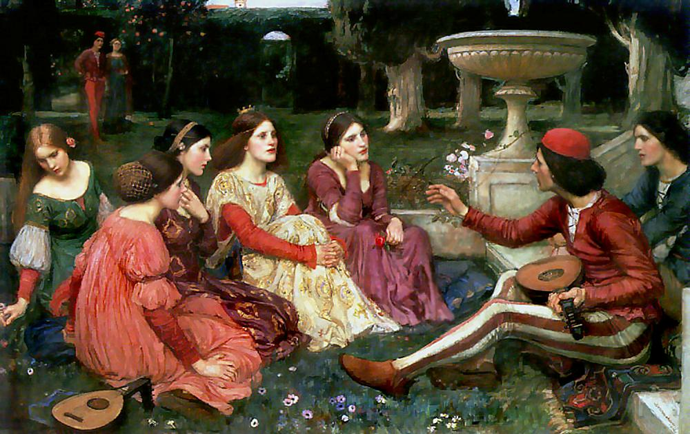 A tale from The Decameron, by John William Waterhouse.