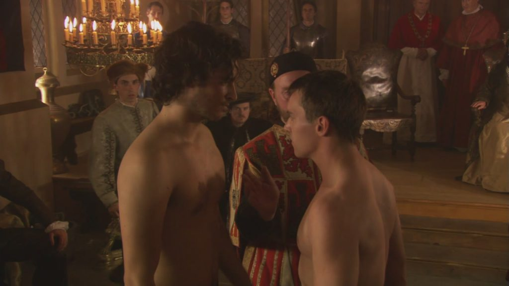 François and Henry before the fight, from the Showtime series 'The Tudors'