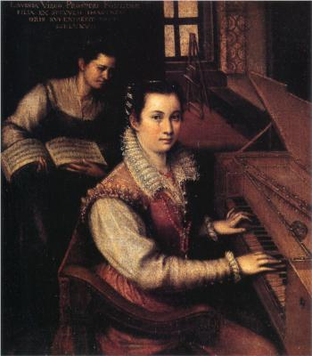 Self-Portrait at the Clavichord with a Servant, 1577