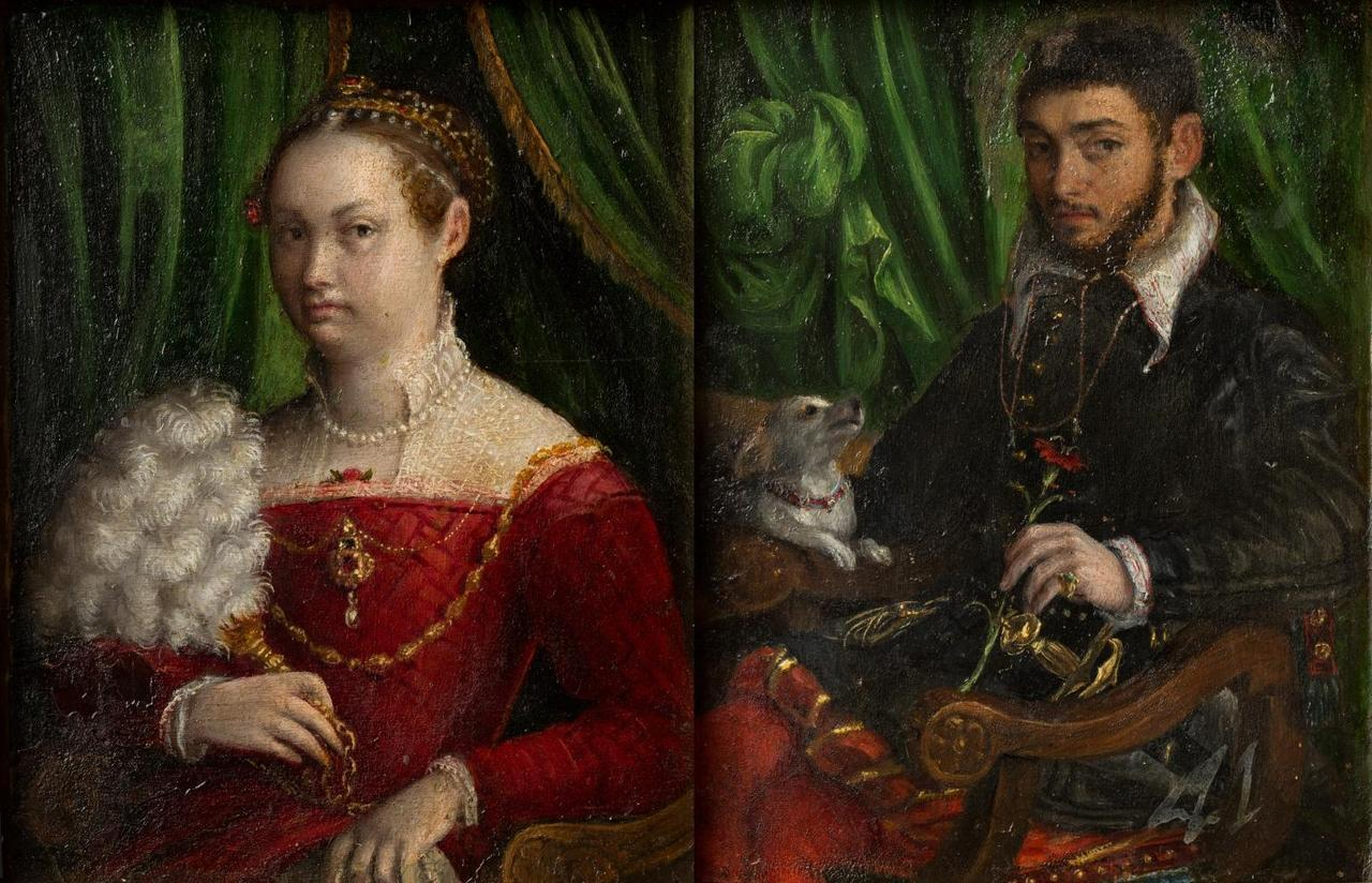 Double portrait of marriage (circa 1577-1585)