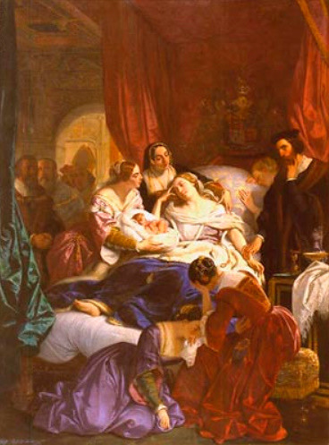 The Death of Jane de Seymour, 1847
