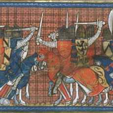 The Battle of Taillebourg: victory of the French Saint Louis over Henry III of England