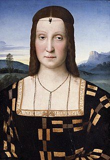 Portrait of Elisabetta Gonzaga by Raphael, c 1504