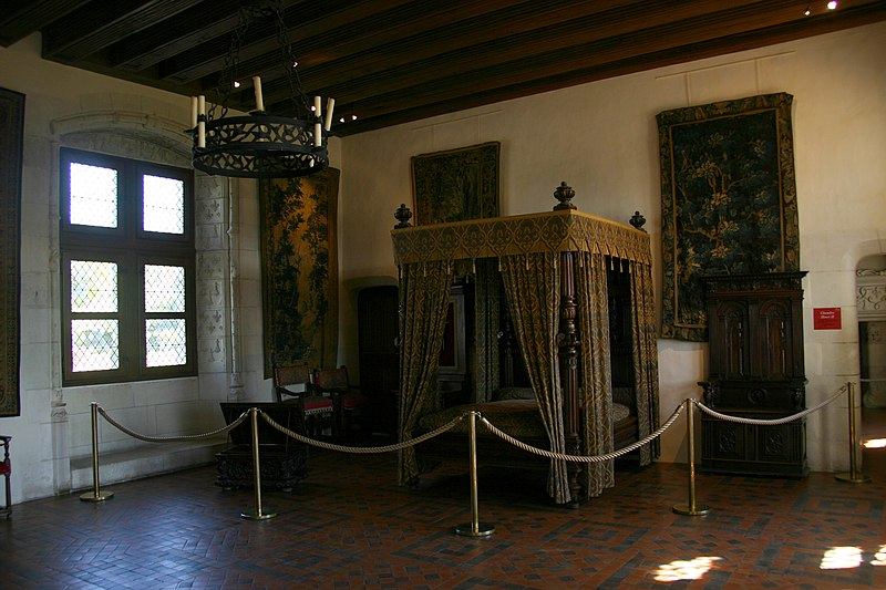 A chamber with tapestries at Château d'Amboise