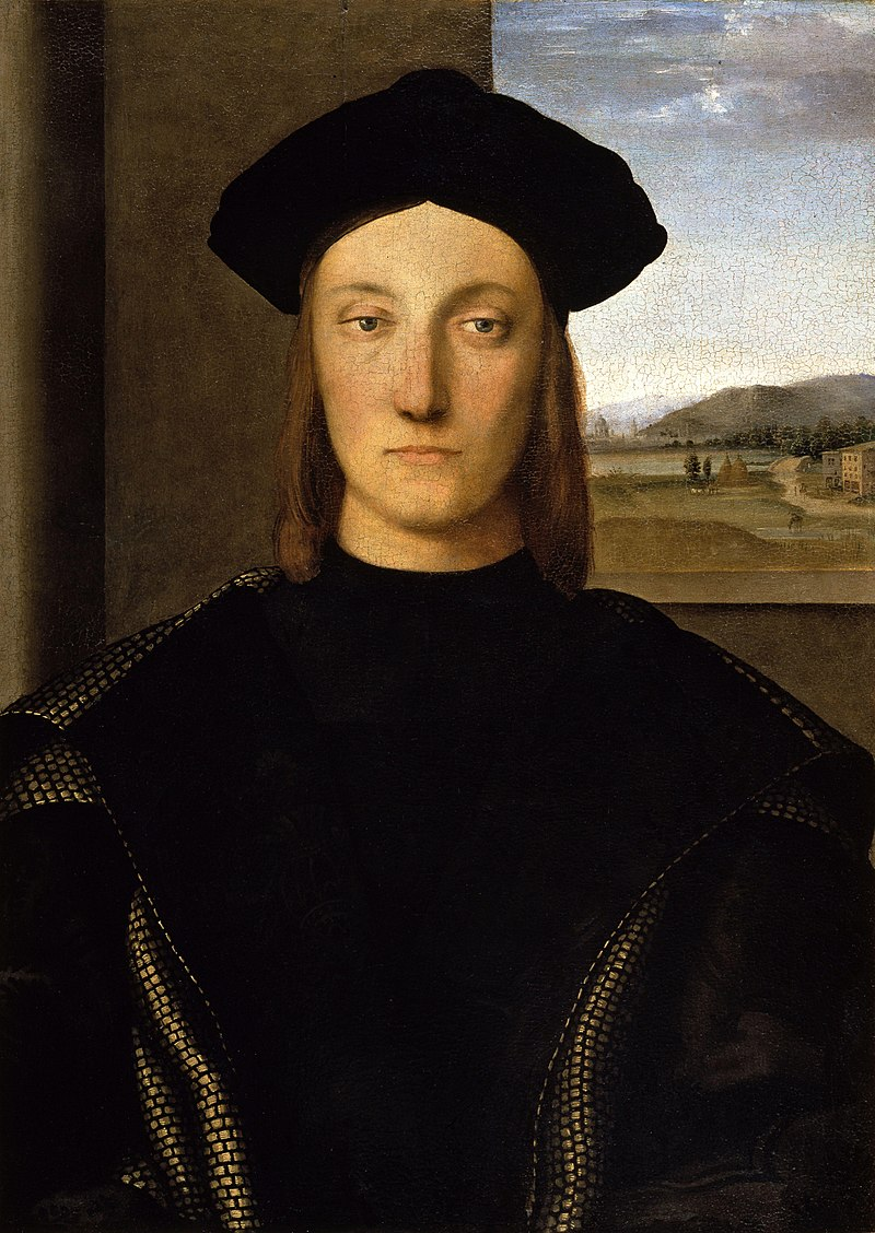 Portrait of Guidobaldo da Montefeltro, Duke of Urbino by Raphael