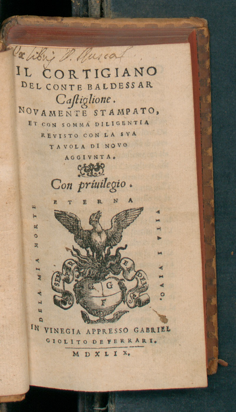 The Book of the Courtier (Il Libro del Cortegiano) by Baldassare Castiglione