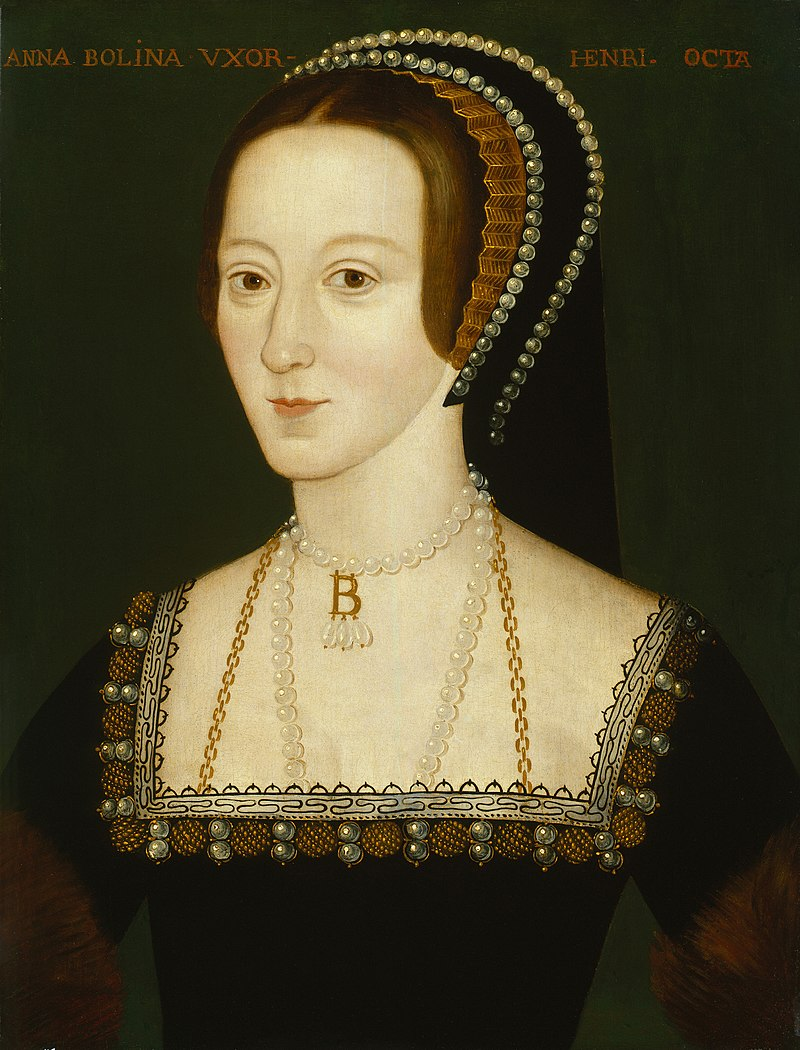 Late Elizabethan Portrait of Anne Boleyn, possibly derived from a lost original of 1533-36