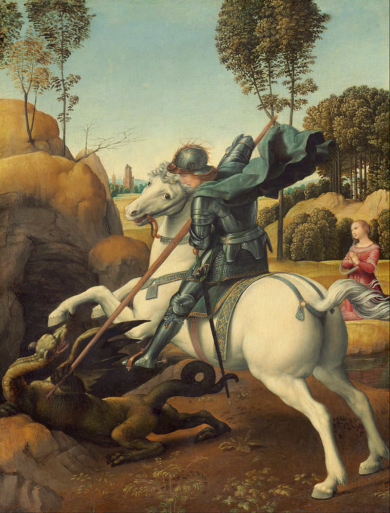 'Saint George and the Dragon' by Raphael, c 1504-06