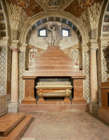 Tomb of Baldassare Castiglione in the sanctuary of S. Maria delle Grazie, outside of the city of Mantua