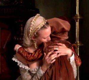 Bessie Blount embracing FitzRoy
