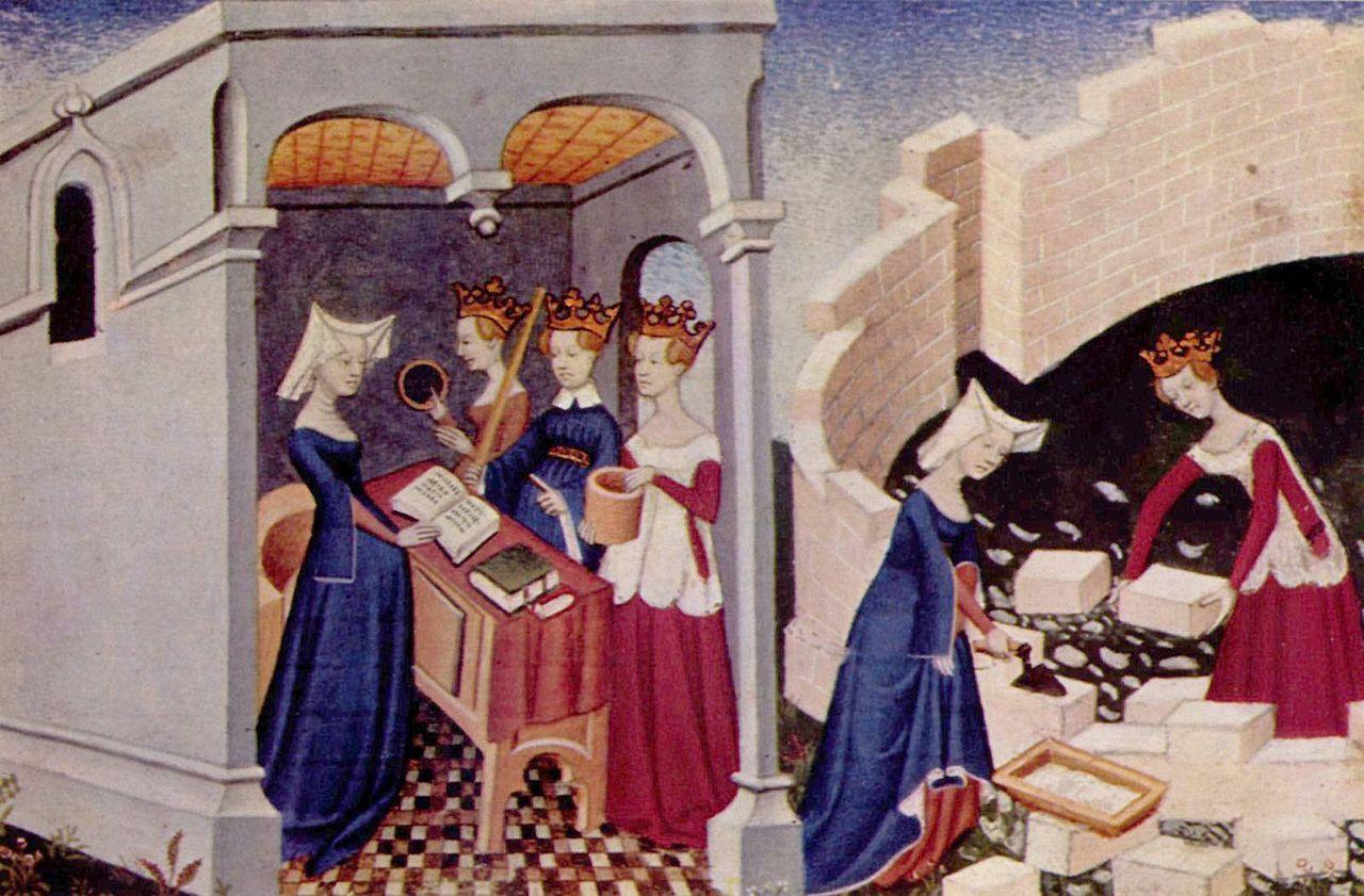Illustration from 'Le Livre de la Cité des Dames' (The Book of the City of Ladies', which was finished by 1405), by Christine de Pizan