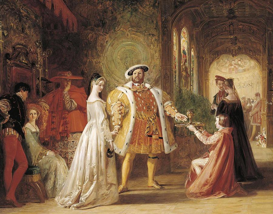 King Henry VIII meeting Anne Boleyn