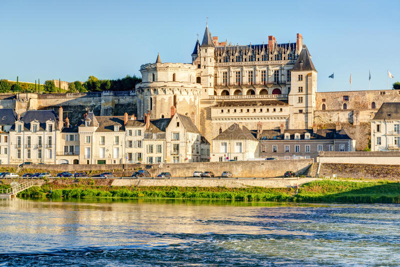 Château d'Amboise on the River Loire, the Loire Valley, France